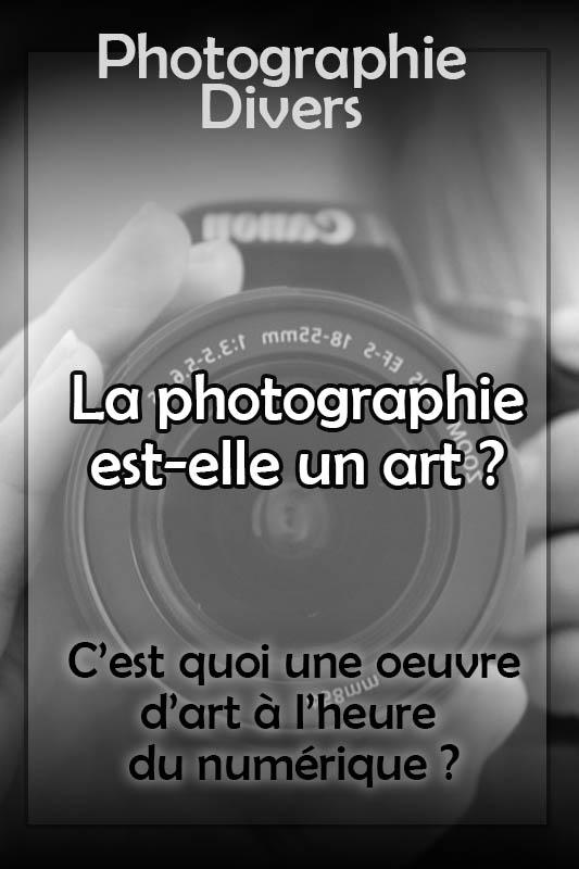 la photographie est elle un art